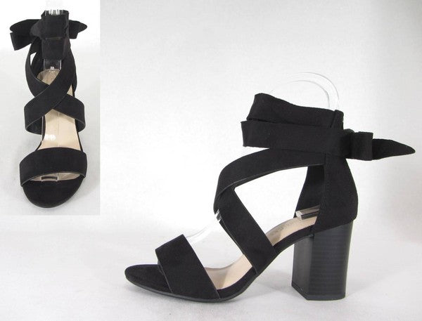 Gidget Wrap Bow Heels - Swoon Boutique
