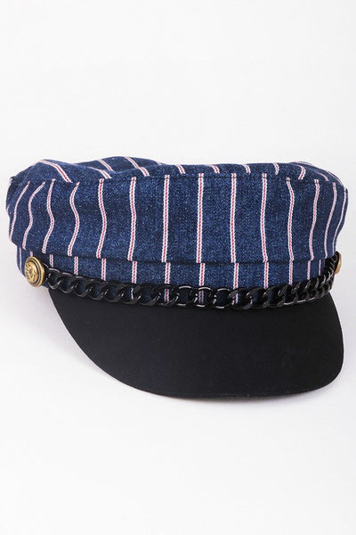 The Caboose Striped Hat - Swoon Boutique