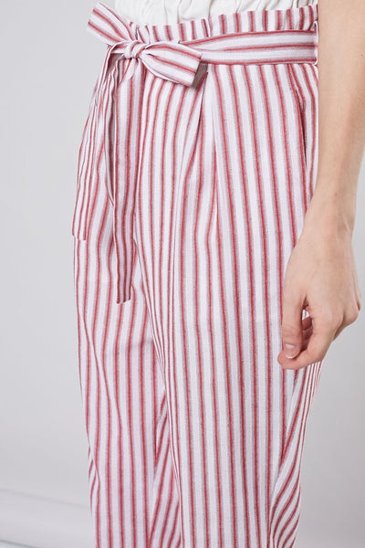 The Gals Stripe Paperbag Pants
