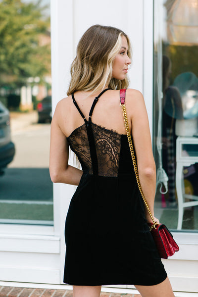 Vivian Velvet Lace Back Dress
