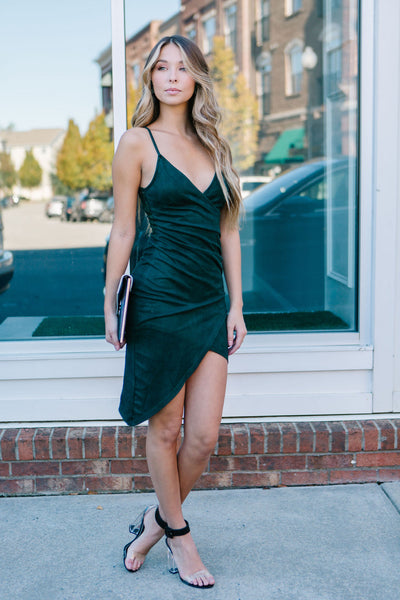 Forest Hills Suede Wrap Dress