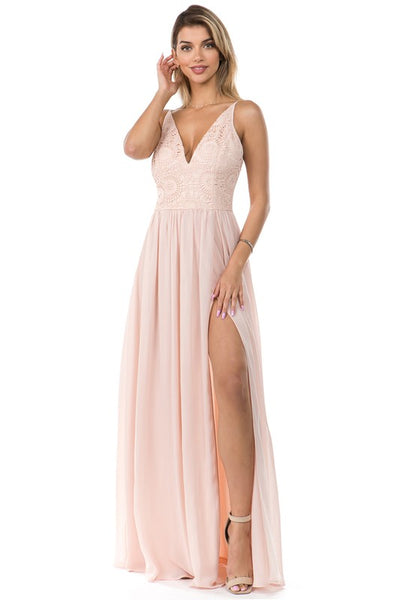 Cake Topper Chiffon Maxi Dress