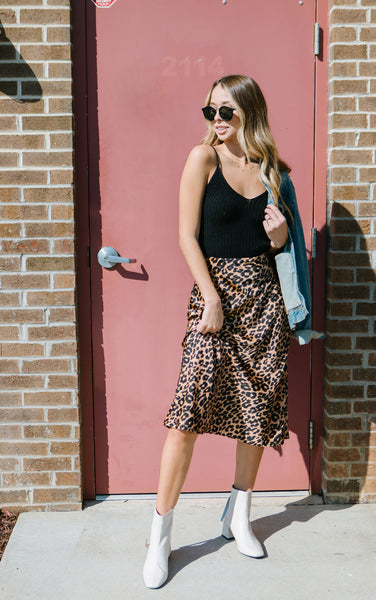 Million Reasons Leopard Midi Skirt