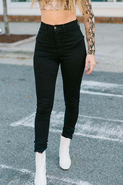 The Basics High Waisted Jeans