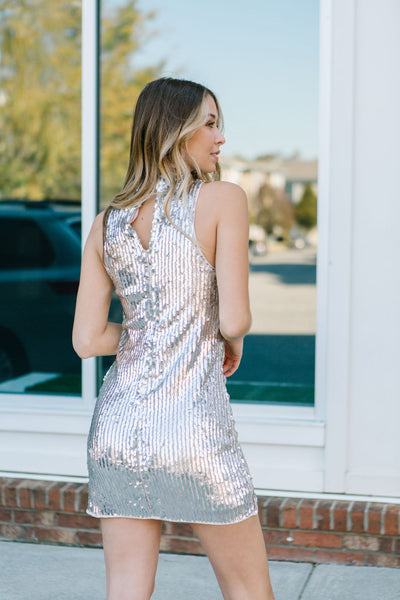 All These Parties Sequin Dress