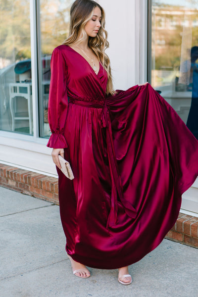 The Memories Satin Maxi Dress