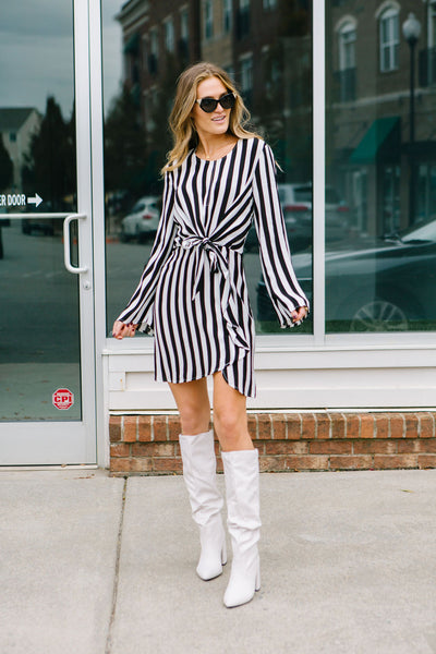 Vertical Vibe Wrap Dress
