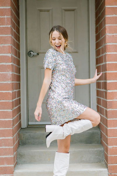 See Me Sparkle Sequin Dress