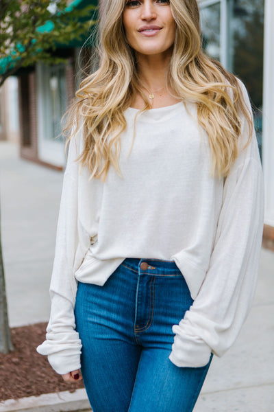 Cotton Ball Sweater Top