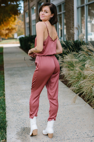 The Clayton Satin Jumpsuit
