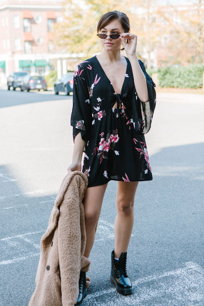 Freefall Floral Floral Dress