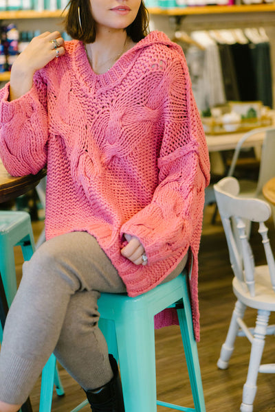 Bubblegum Hand Knit Sweater