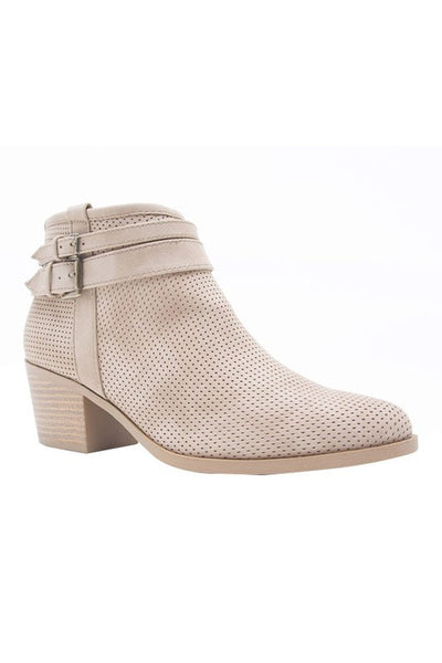 Perforations Booties - Swoon Boutique