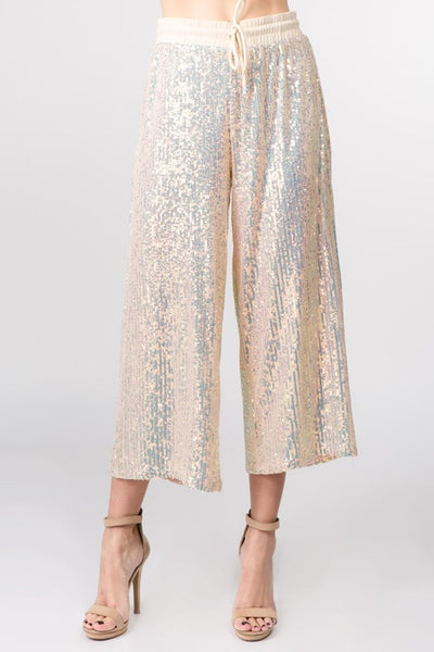 Celebrations Sequin Cropped Pants