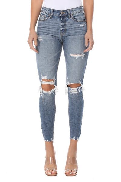 The Clara Distress High Waist Jeans