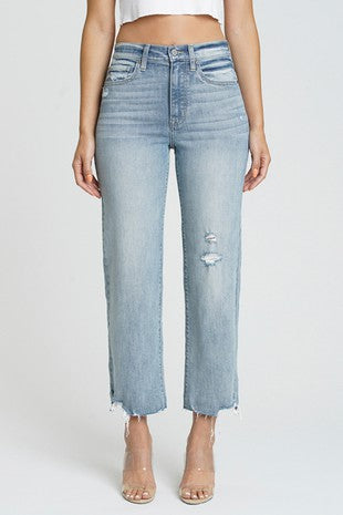 Revival Raw Edge Cropped Jeans