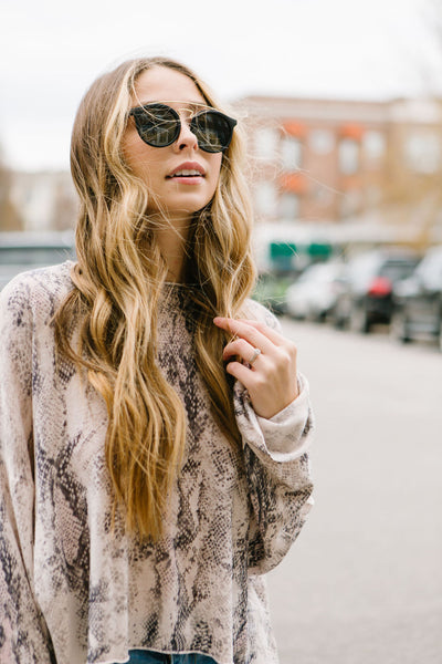Muted Hues Snakeskin Sweater