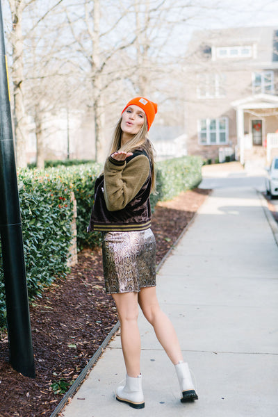 Seasonal Snakeskin Skirt