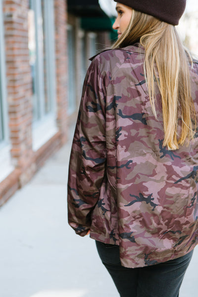 Put Me In Camo Rain Jacket