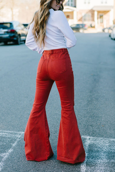Burning House Flare Jeans