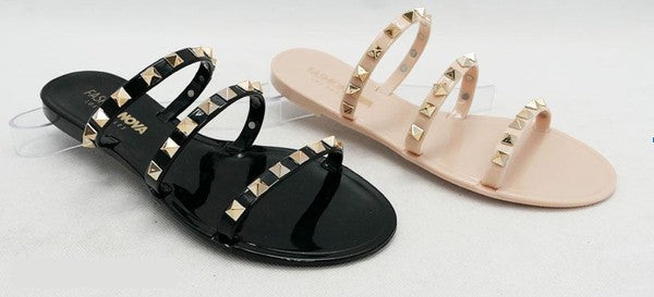The Sandy Stud Jelly Sandals