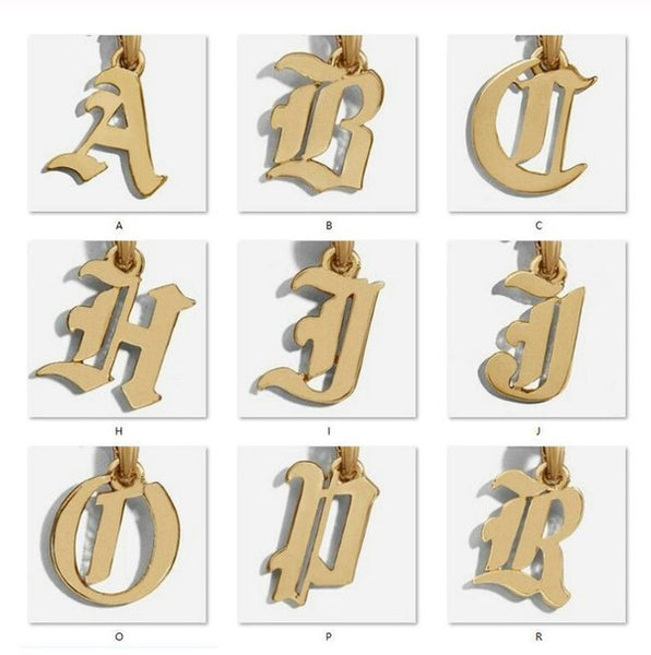 Trendy Olde English Letter Necklace