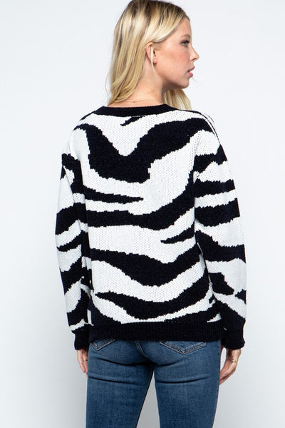 Best Of Me Zebra Sweater