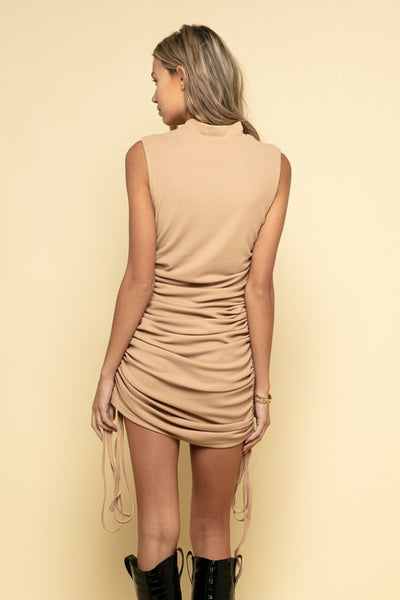 Ooh Girl Side Ruched Dress