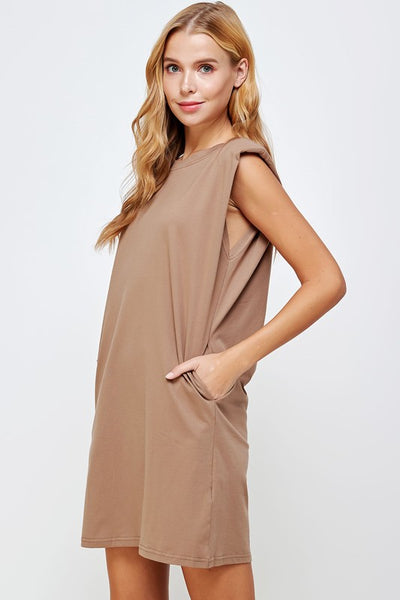 The Izzy Shoulder Pad Dress