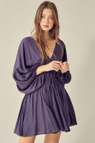 Midnight Sky Wide Sleeve Dress