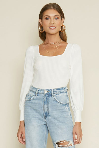 Take It Easy Ribbed Bodysuit