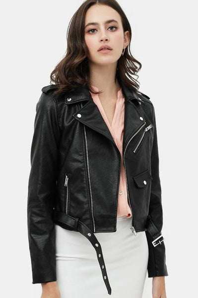 Feels Right Faux Leather Jacket