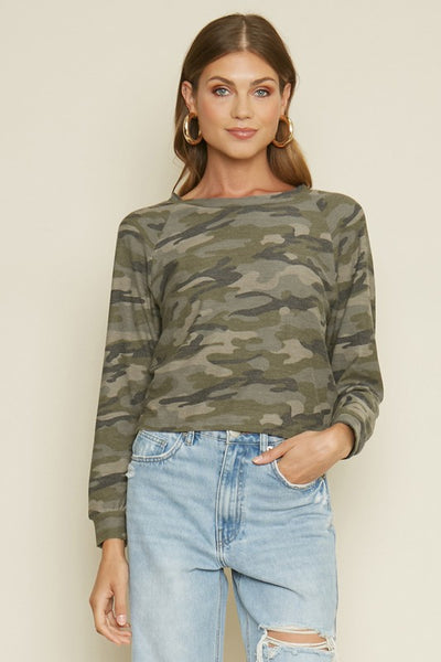 Take It Easy Camo Top