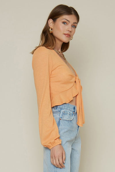 On & On Ruffle Top