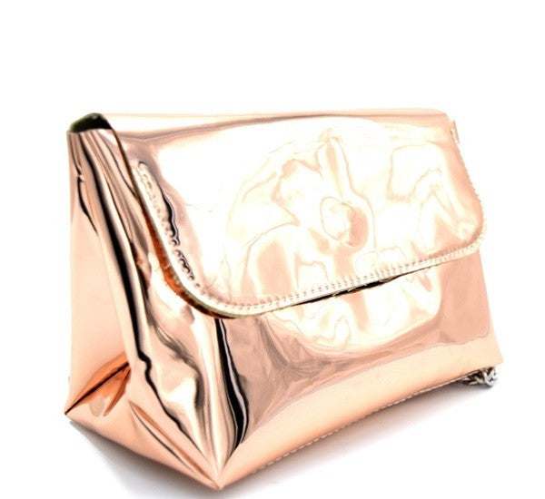 Metallic Rose Bag