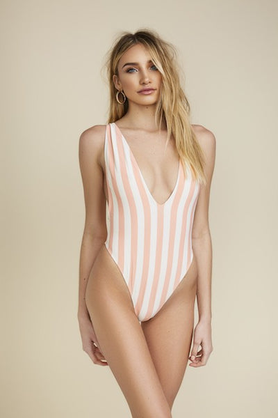 4d3f198109 ... Citrine Stripe One Piece Bathing Suit - Swoon Boutique ...