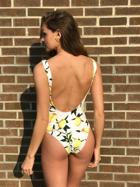 Lemonade Scoop Back One Piece Bathing Suit - Swoon Boutique