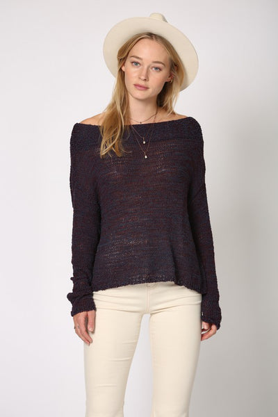 Olivia Off The Shoulder Light Sweater