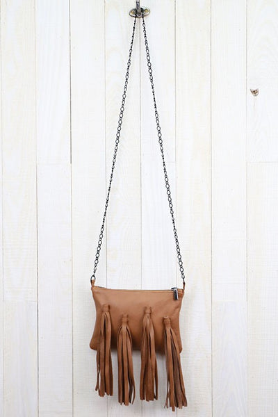 Lulu Leather Chain Bag - Swoon Boutique