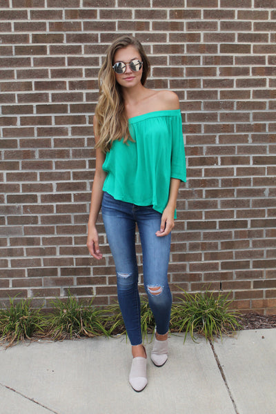 Now or Never One Shoulder Top