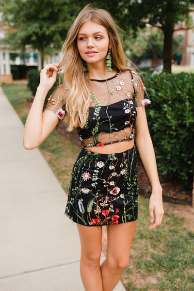 Ebony Embroidered Top - Swoon Boutique