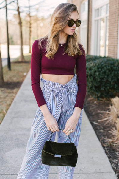 Wine Times Crop Top