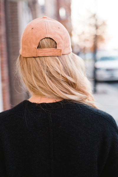 The Jaclyn Suede Baseball Hat