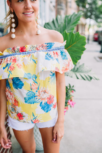 Tropicana Off The Shoulder Top