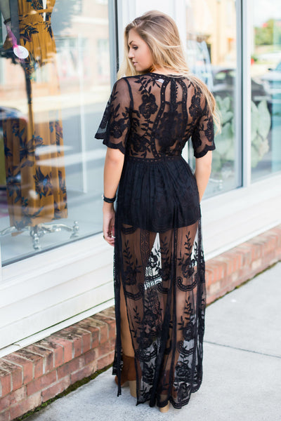 Bombshell Lace Maxi Dress
