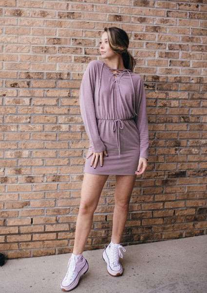 Knit Hoodie Dress