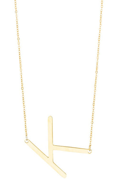 Anthro Initial Necklace