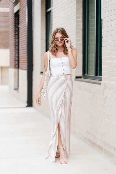 Beachfront Stripe Maxi Skirt