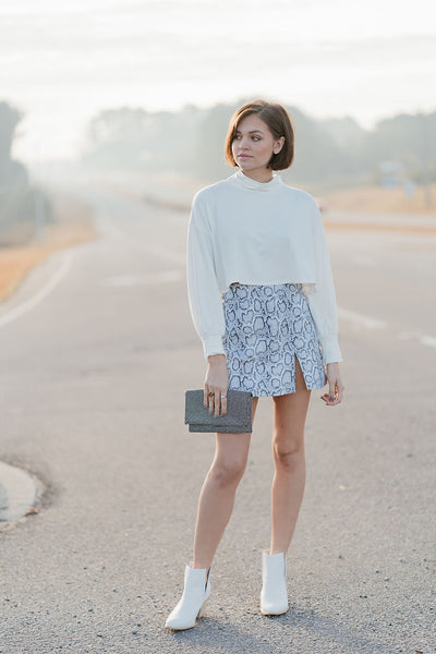The Century Snakeskin Skirt