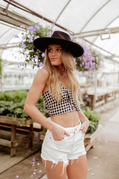 The Addison Gingham Crop Top
